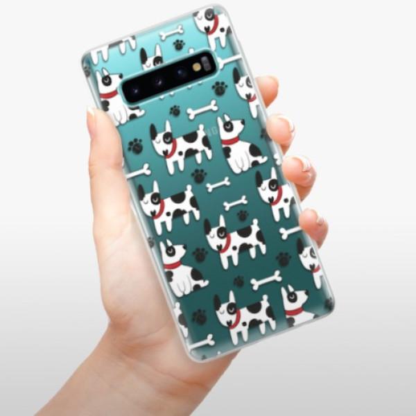 Odolné silikonové pouzdro iSaprio - Dog 02 - Samsung Galaxy S10