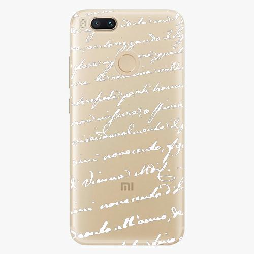 Plastový kryt iSaprio - Handwriting 01 - white - Xiaomi Mi A1