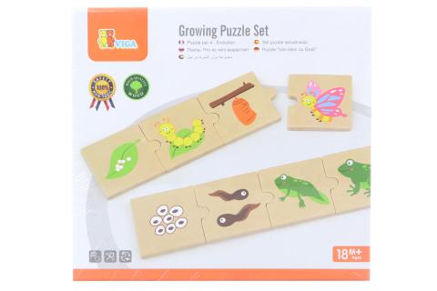 Dřevěné puzzle - evoluce
