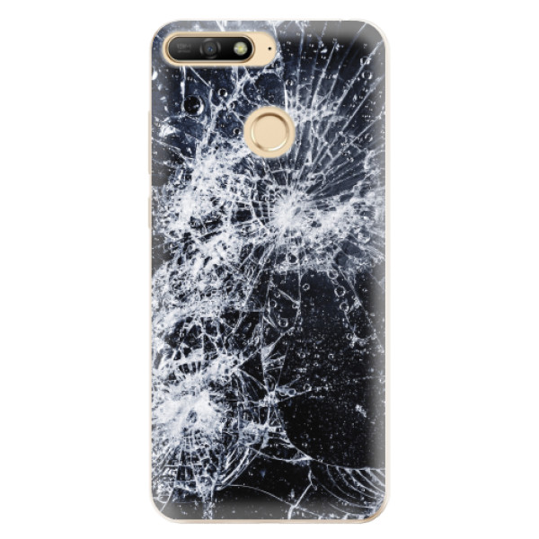 Odolné silikonové pouzdro iSaprio - Cracked - Huawei Y6 Prime 2018