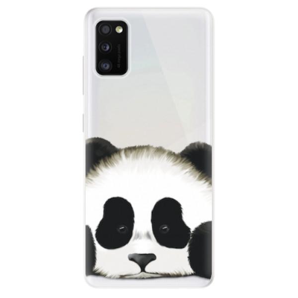 Odolné silikonové pouzdro iSaprio - Sad Panda - Samsung Galaxy A41