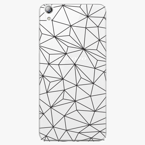 Plastový kryt iSaprio - Abstract Triangles 03 - black - Lenovo S850