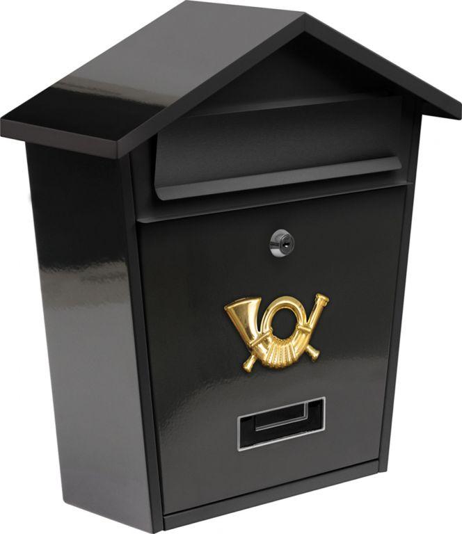 Poštovní schránka se stříškou - černá