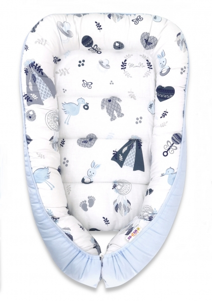 baby-nellys-bavlnene-oboustranne-hnizdecko-55x75cm-new-love-baby-modra