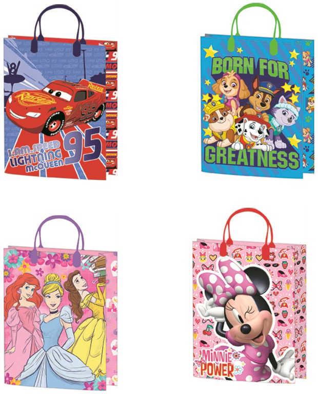 Taška dětská dárková Disney 18x25cm různé motivy plast