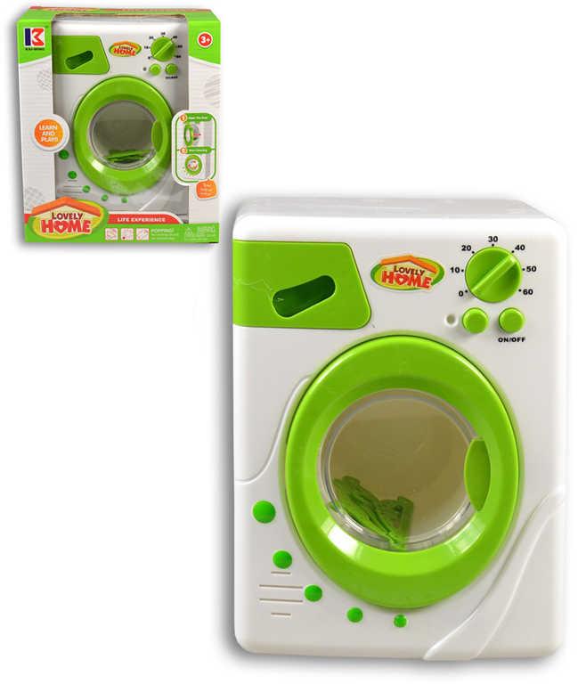 Pračka zeleno-bílá 22cm na baterie Světlo Zvuk plast