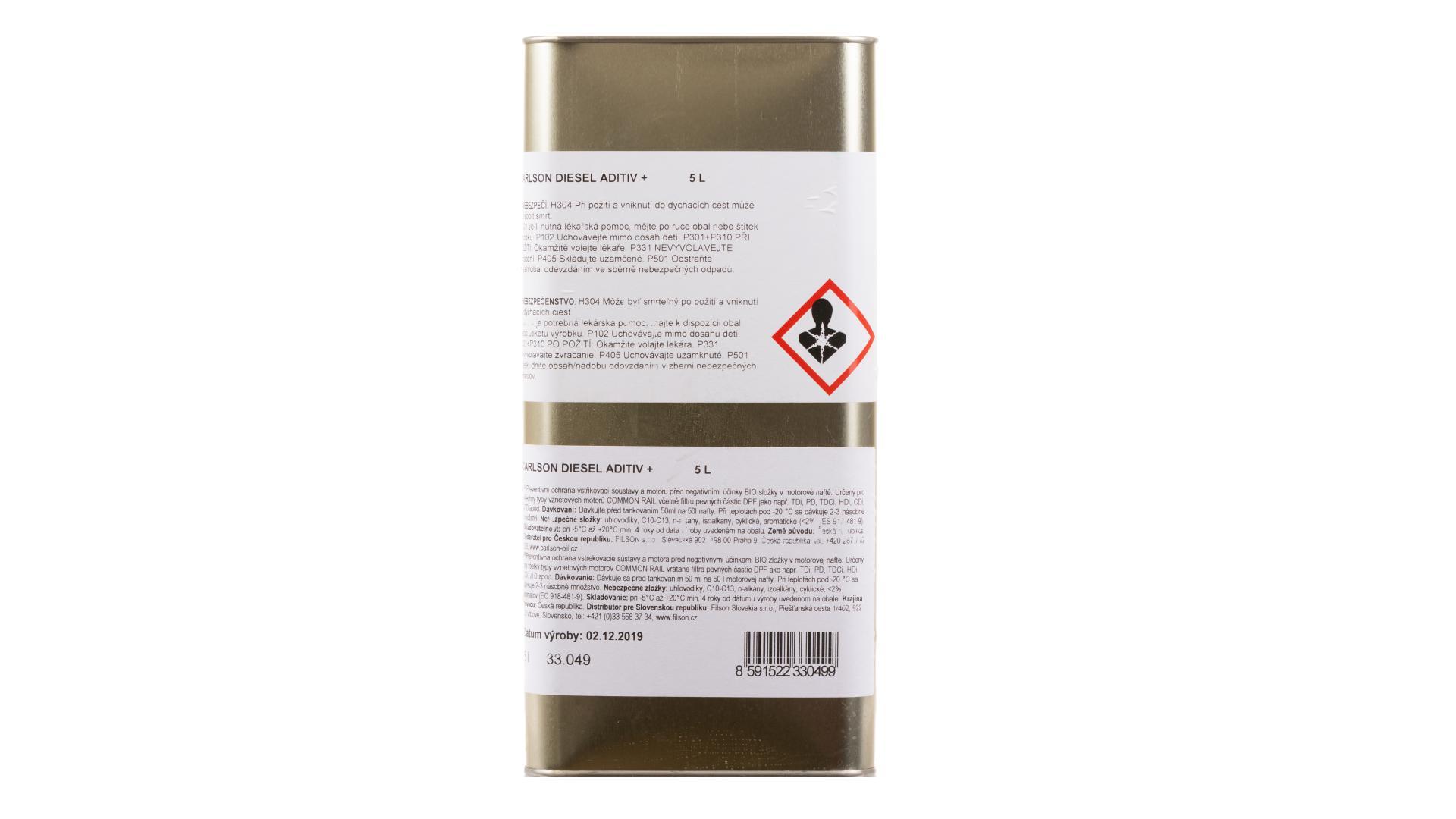 CARLSON diesel aditiv - zimní aditivum do nafty - 5l