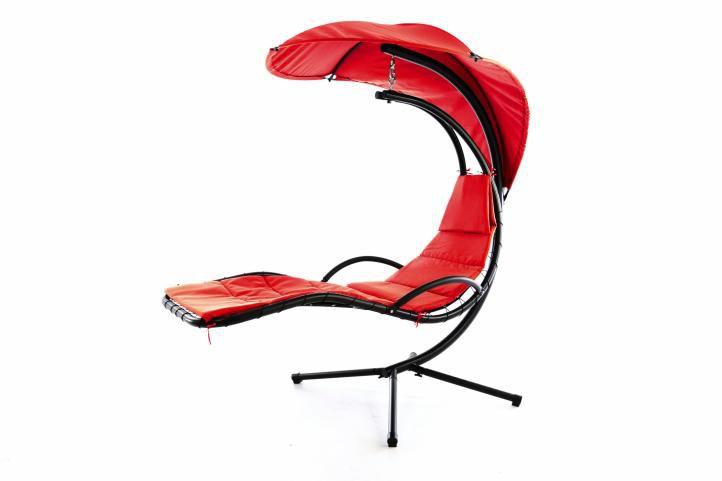 Luxusní závěsné lehátko EDEN - červená