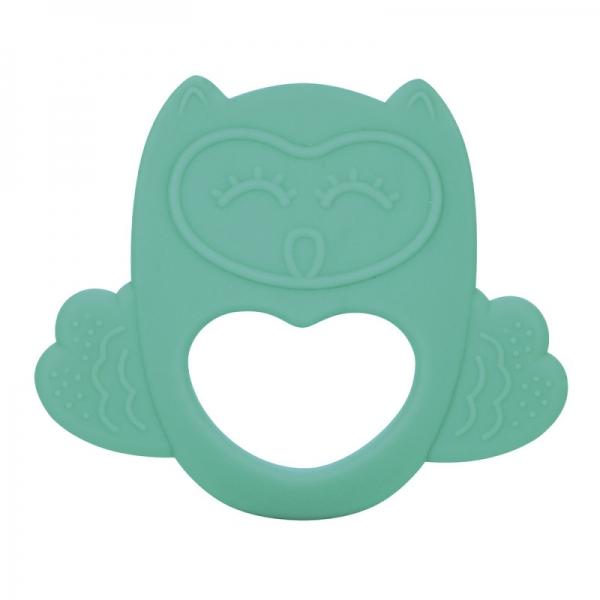 Silikonové chladící kousátko Canpol Babies Sova - tyrkysové