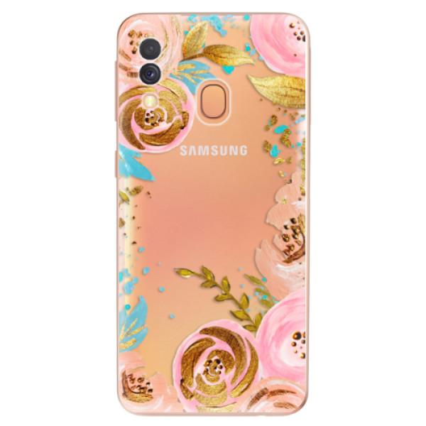 Odolné silikonové pouzdro iSaprio - Golden Youth - Samsung Galaxy A40
