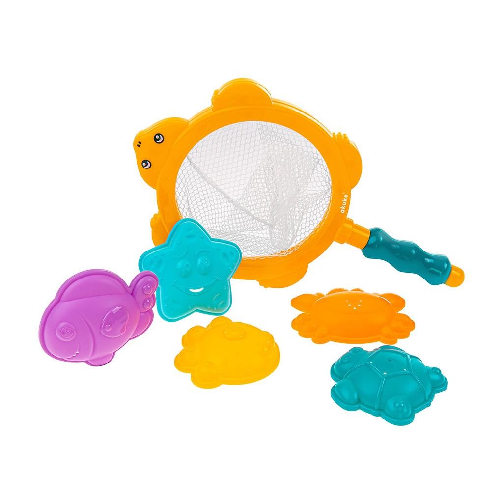 Hračky do vody sítko - s hračkami Akuku - multicolor