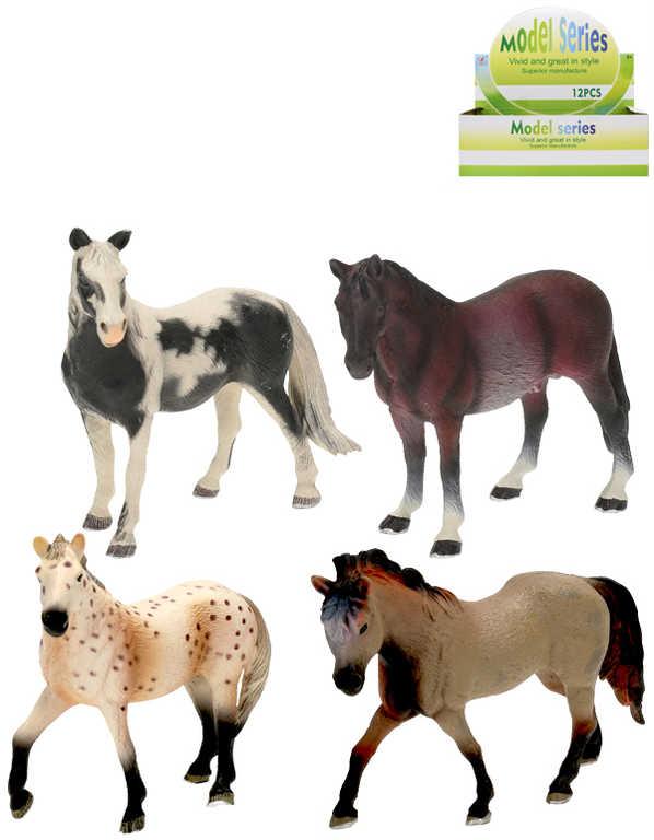 Kůň 14cm plastová figurka koník 4 druhy