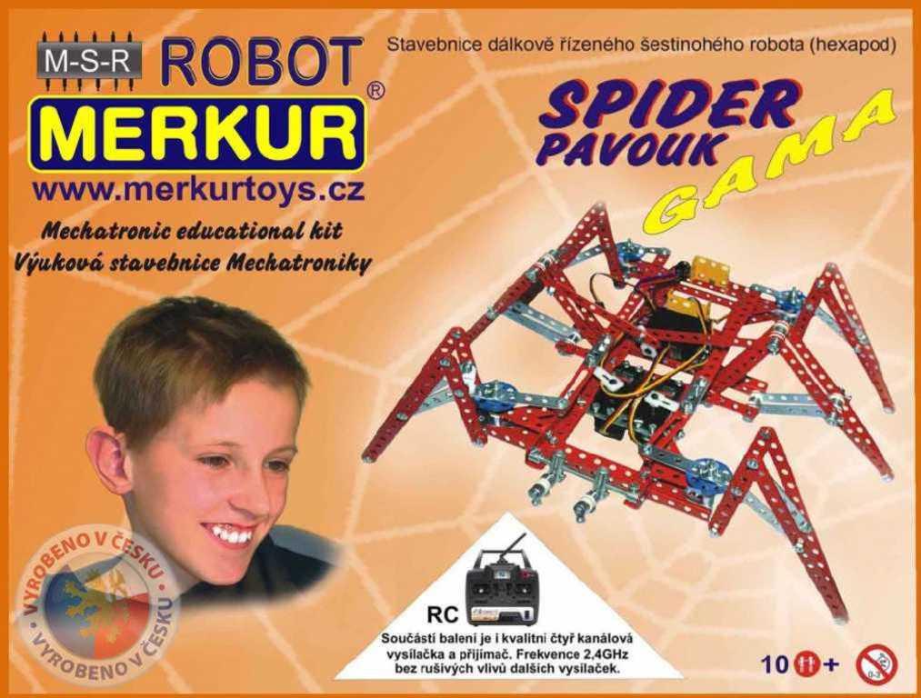 MERKUR RC Robotický pavouk na vysílačku * KOVOVÁ STAVEBNICE *