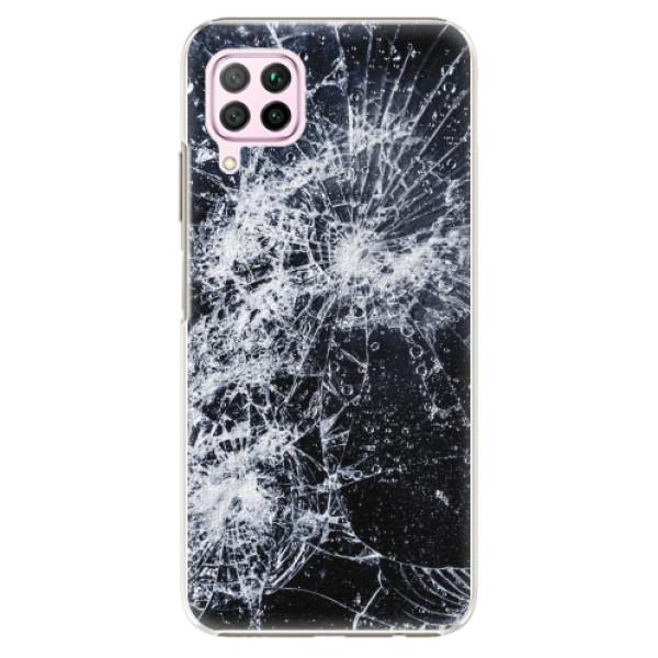 Plastové pouzdro iSaprio - Cracked - Huawei P40 Lite