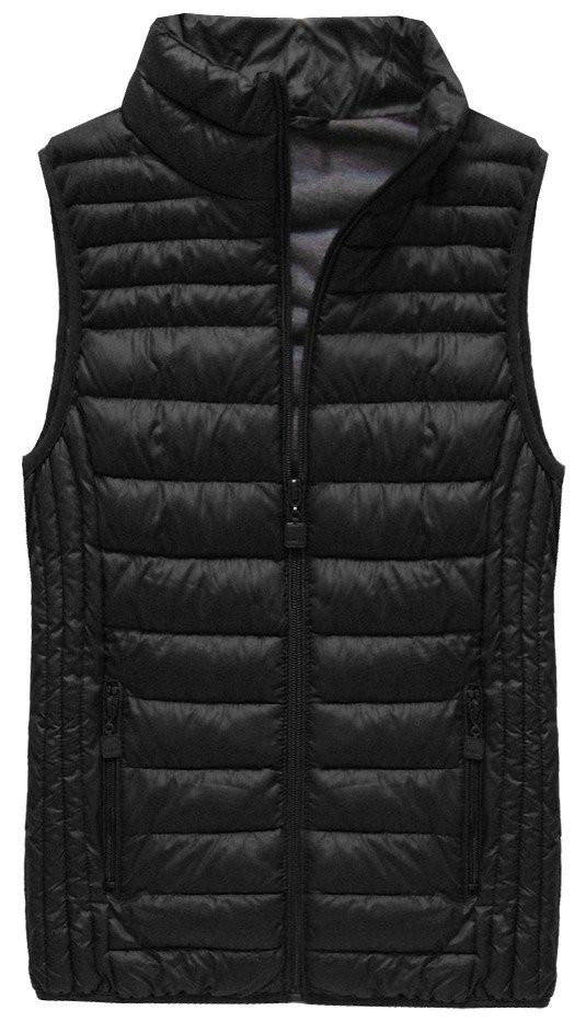 Černá prošívaná vesta (B2608-30)
