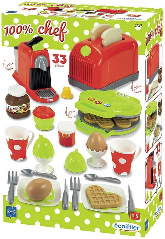 ECOIFFIER Baby set snídaňový velký s topinkovačem a kávovarem pro miminko