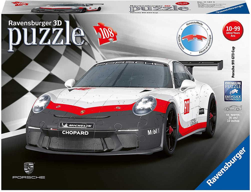 RAVENSBURGER Puzzle 3D Auto Porsche 911 GT3 108 dílků skládačka plast