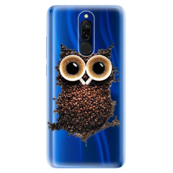 Odolné silikonové pouzdro iSaprio - Owl And Coffee - Xiaomi Redmi 8