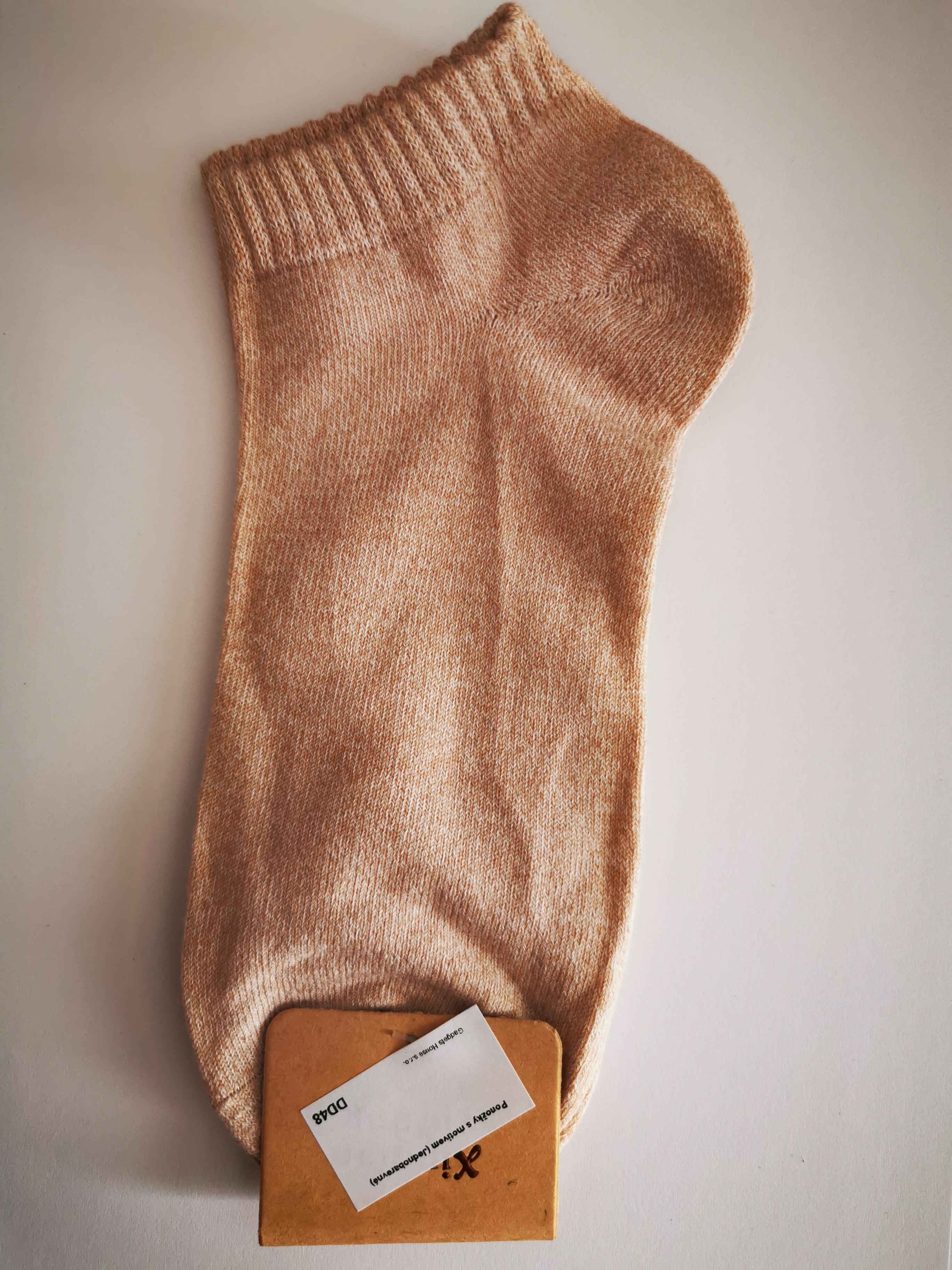 Jednobarevné letní ponožky - Hnědá
