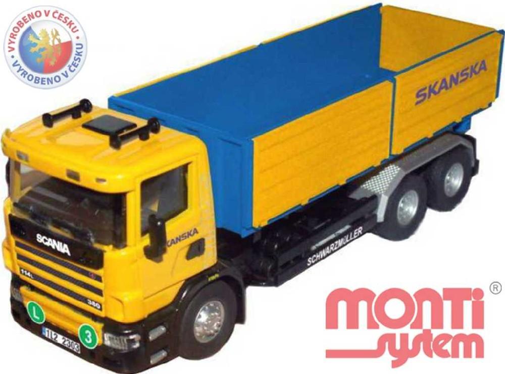 MONTI SYSTÉM 67 Auto Scania SKANSKA stavebnice MS67 0110-67