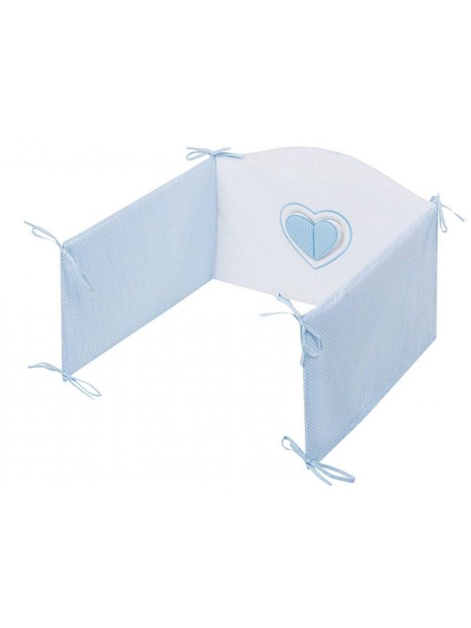 5-dílné ložní povlečení Belisima Tři srdce 100/135 bílo- modrá