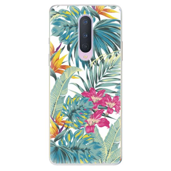 Odolné silikonové pouzdro iSaprio - Tropical White 03 - OnePlus 8