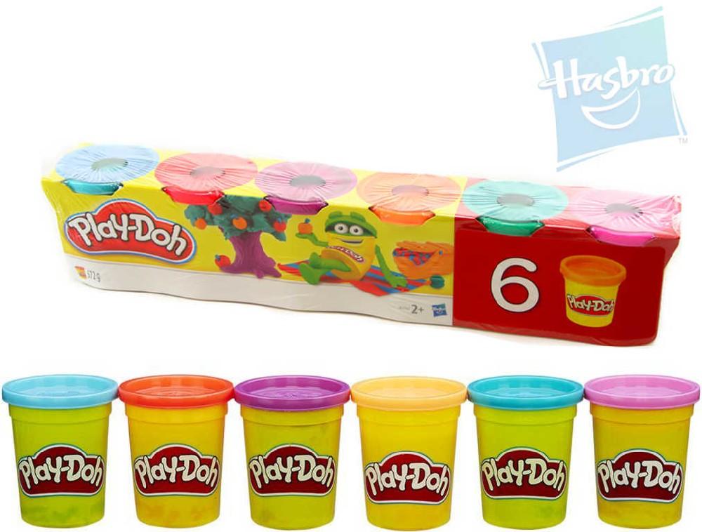 HASBRO PLAY-DOH Modelína set 6 kelímků 672g výrazné barvy