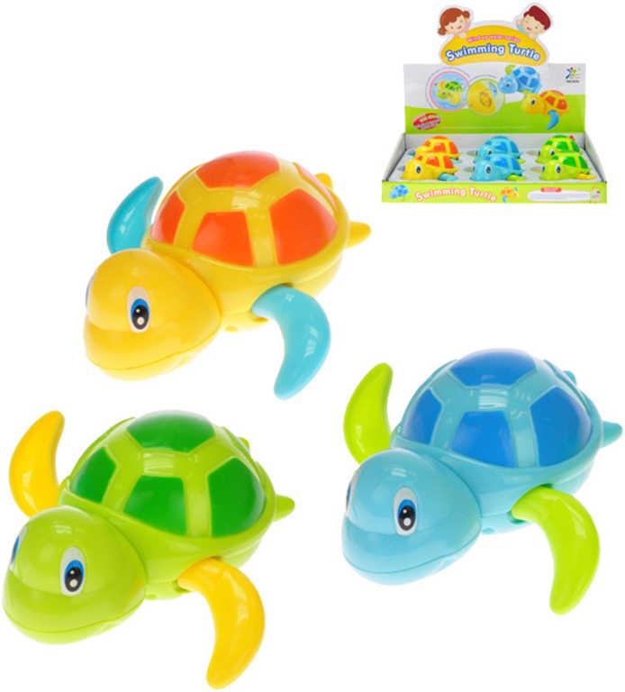 Želvička plavající 11 cm do vody na natažení - 3 barvy
