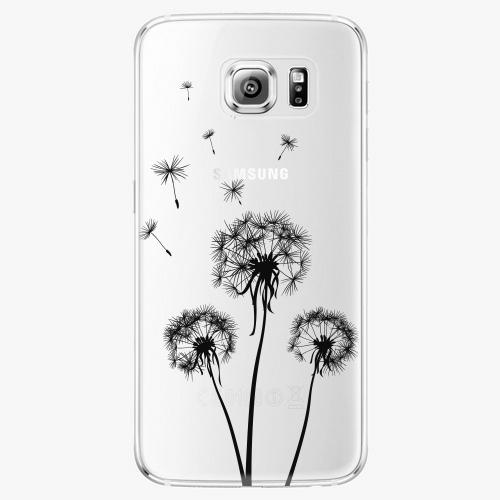 Plastový kryt iSaprio - Three Dandelions - black - Samsung Galaxy S6 Edge