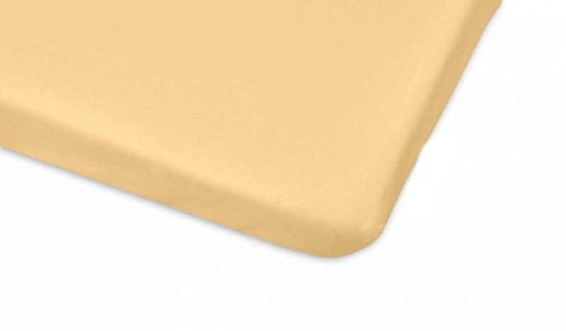 Bavlněné prostěradlo 60x120cm - žlutá - 120x60