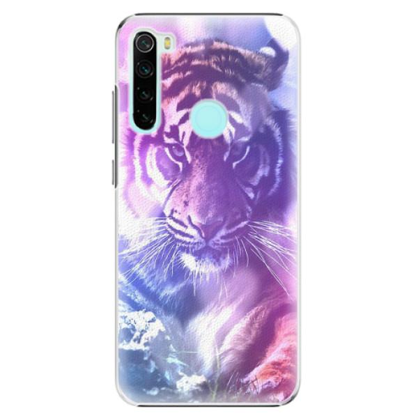Plastové pouzdro iSaprio - Purple Tiger - Xiaomi Redmi Note 8