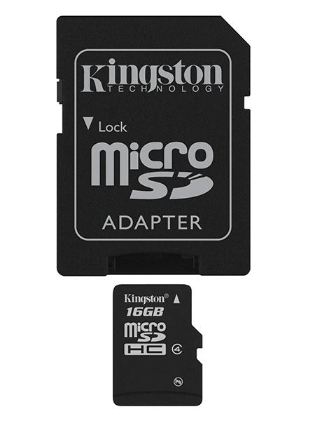 Paměťová karta Kingston microSDHC Class 4 32GB + adaptér