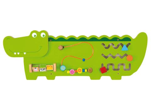 Dřevěná nástěnná hra - krokodýl