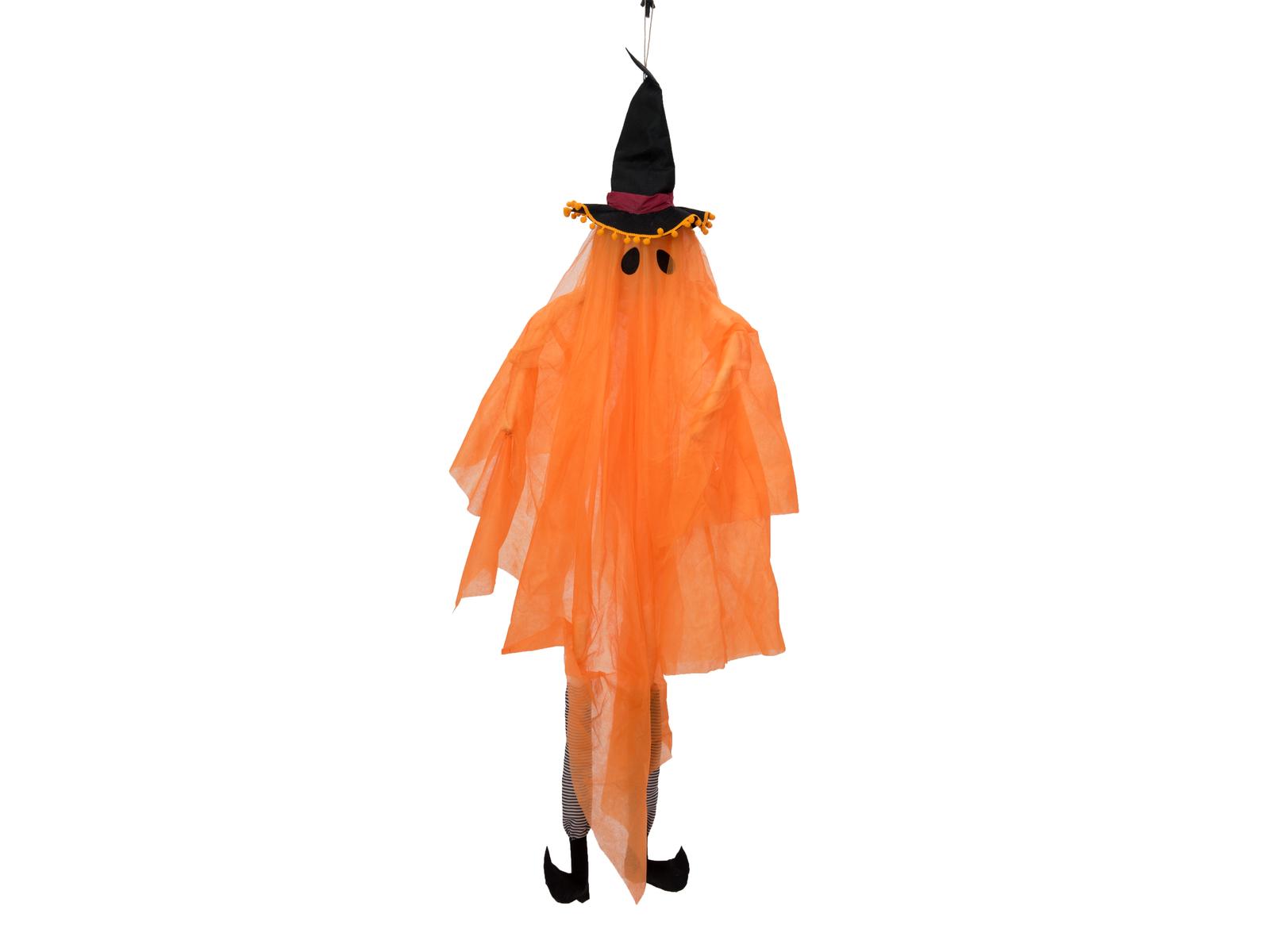 Halloween duch s čarodějnickým kloboukem, 150 cm