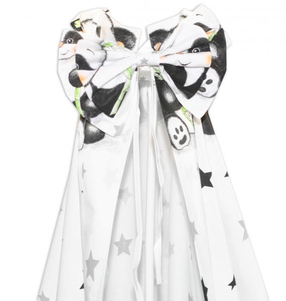 Nebesa z celé látky Panda Baby Nellys - bílé, D19