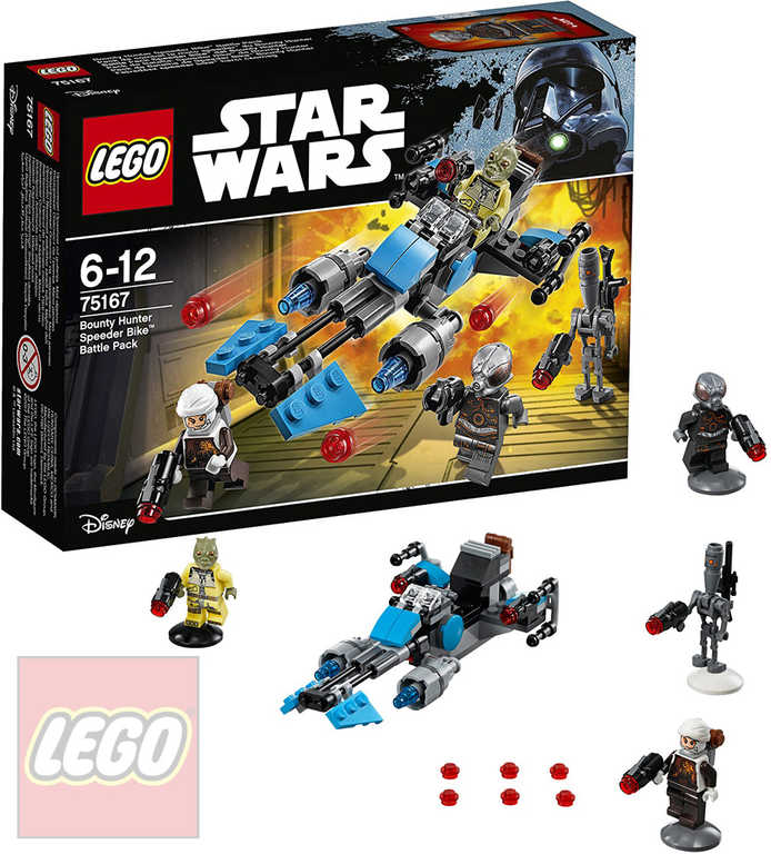 LEGO STAR WARS Speederová motorka námezdního lovce 75167 STAVEBNICE