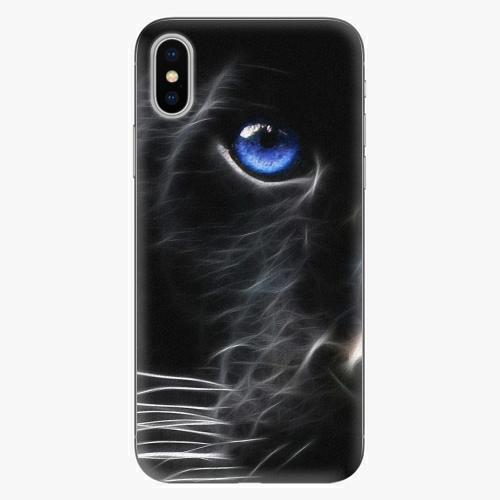 Plastový kryt iSaprio - Black Puma - iPhone X