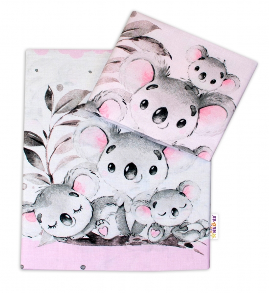 2-dilne-bavlnene-povleceni-baby-nellys-medvidek-koala-ruzovy-roz-135-x-100-cm-135x100