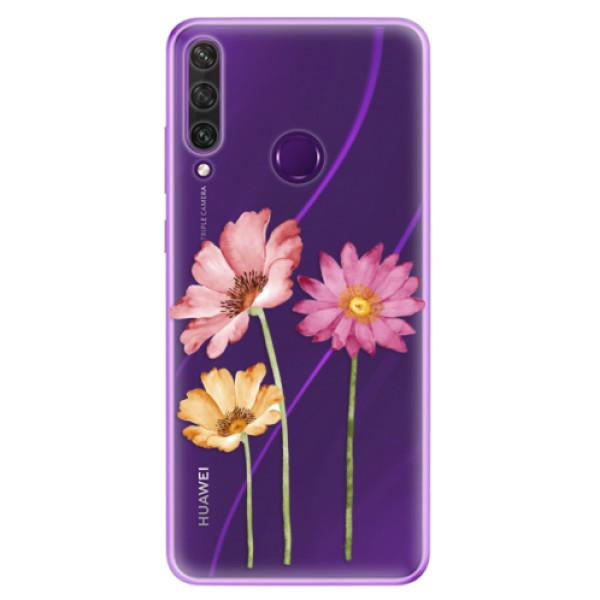 Odolné silikonové pouzdro iSaprio - Three Flowers - Huawei Y6p