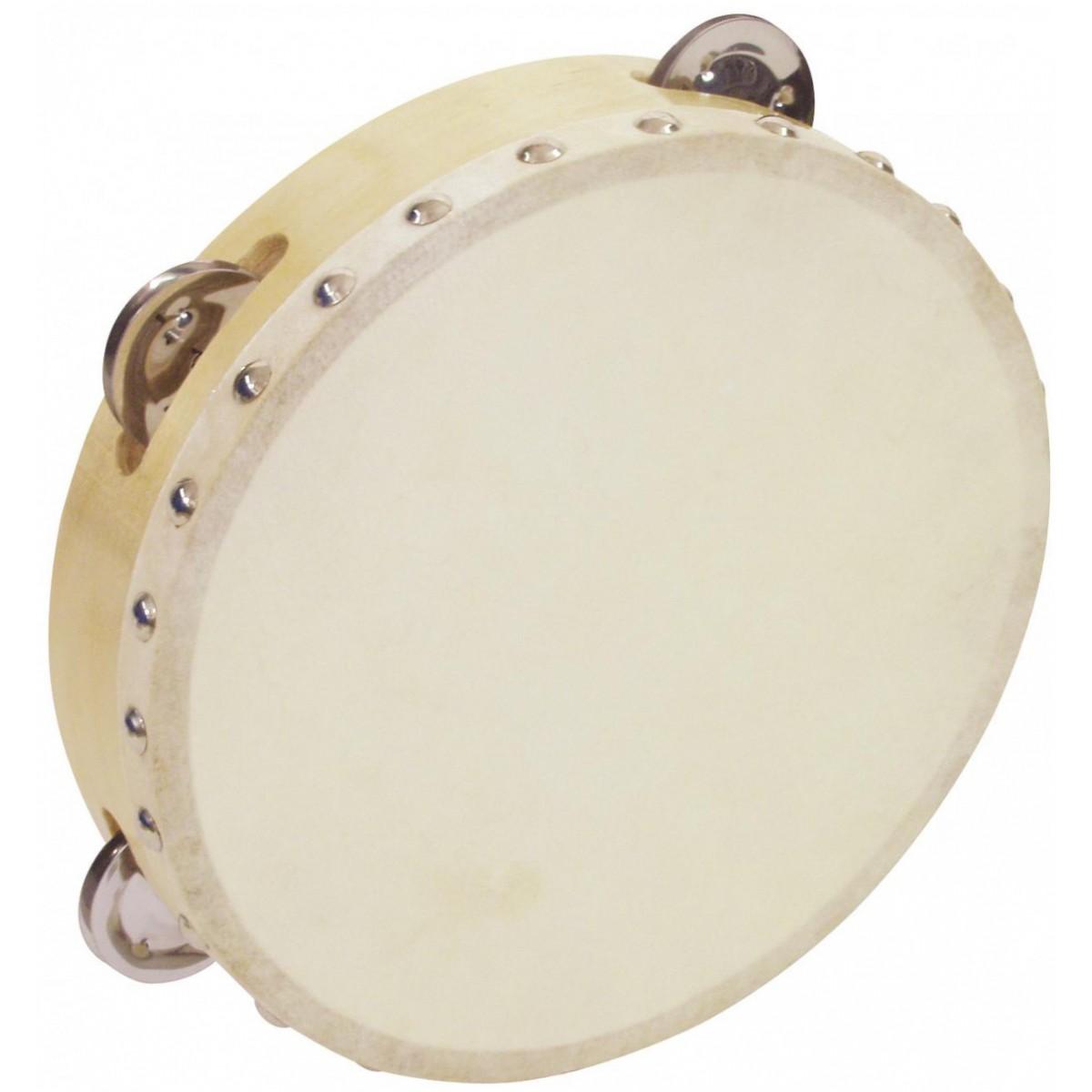 """Dimavery DTH-804 tamburína 8"""", 4 plíšky"""