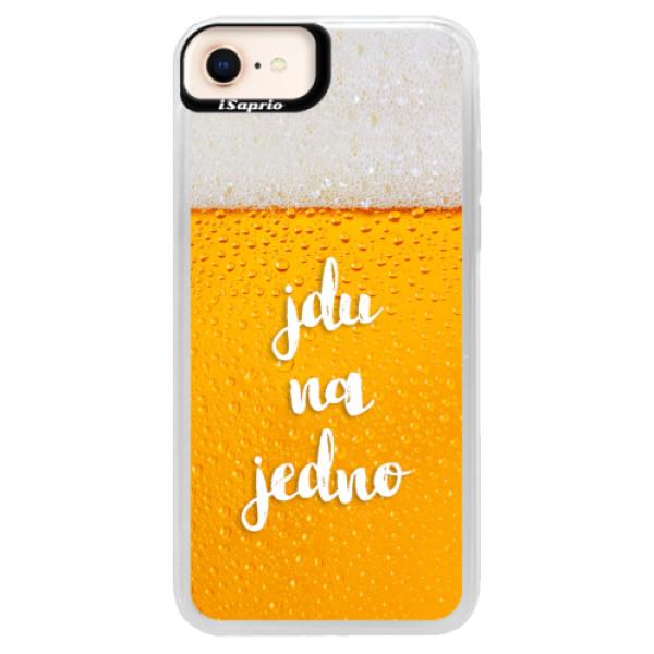 Neonové pouzdro Blue iSaprio - Jdu na jedno - iPhone 8