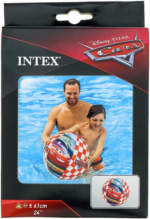 INTEX Míč nafukovací 61cm do vody CARS (Auta) kostkovaný 58053