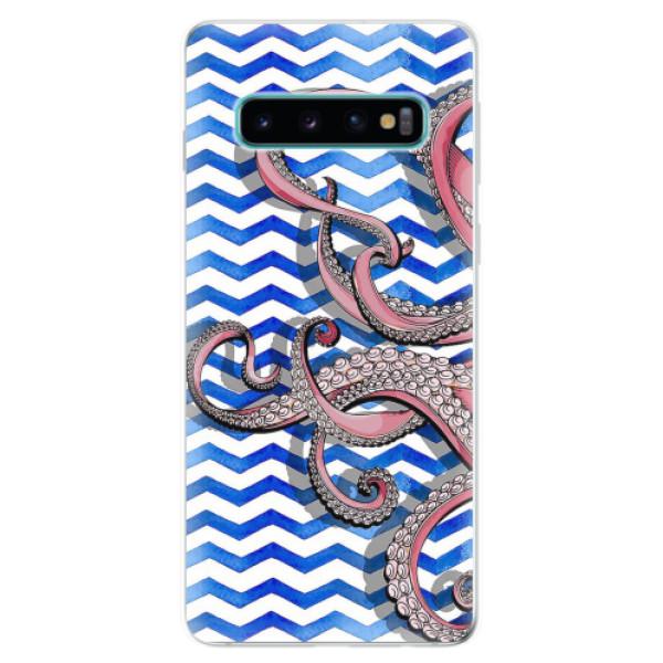 Odolné silikonové pouzdro iSaprio - Octopus - Samsung Galaxy S10
