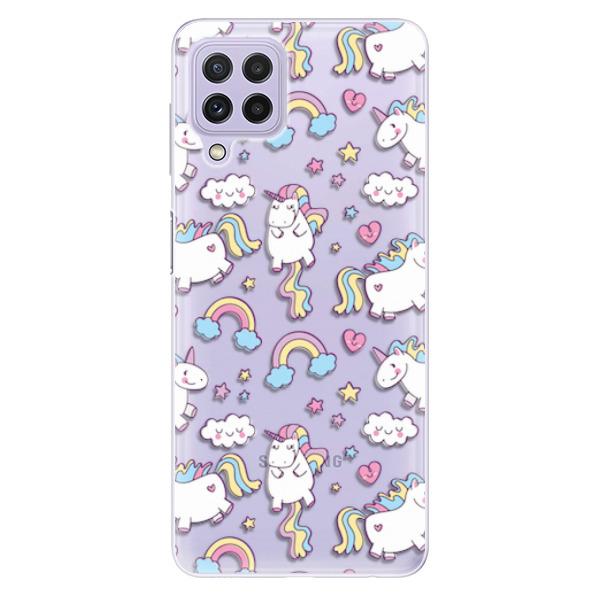 Odolné silikonové pouzdro iSaprio - Unicorn pattern 02 - Samsung Galaxy A22