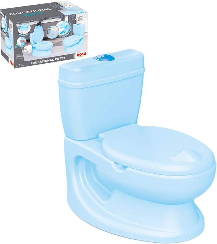 Baby toaleta modrá WC pro děti záchod s vyjímatelným nočníkem plast pro miminko