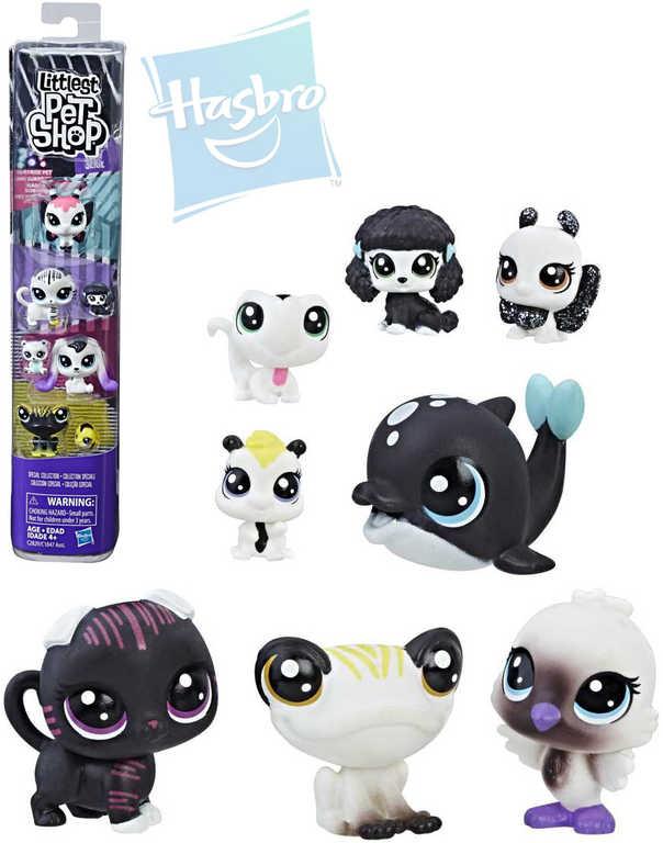 HASBRO LPS Littlest Pet Shop zvířátko černobílé set 8ks s překvapením 5 druhů plast