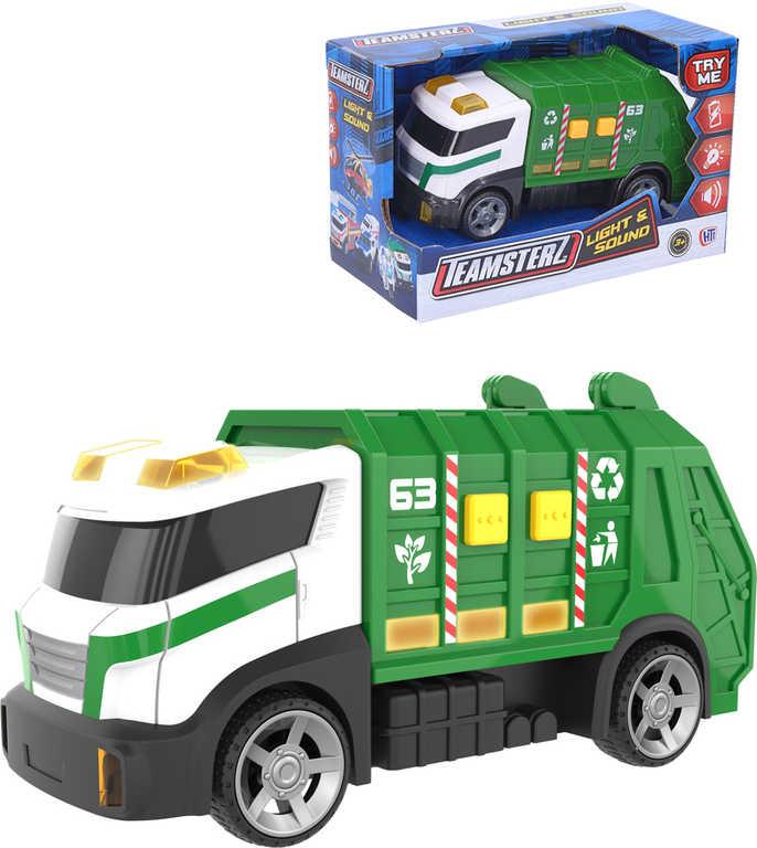 Teamsterz auto zelené popeláři 15cm na baterie
