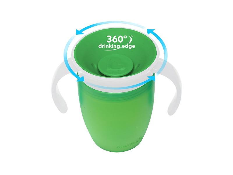 Munchkin - Juniorský netekoucí hrneček 360°s oušky 207 ml-zelený