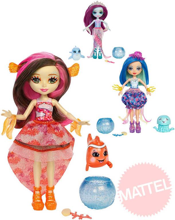 MATTEL Enchantimals set panenka vodní 15cm s doplňky mění barvu 3 druhy