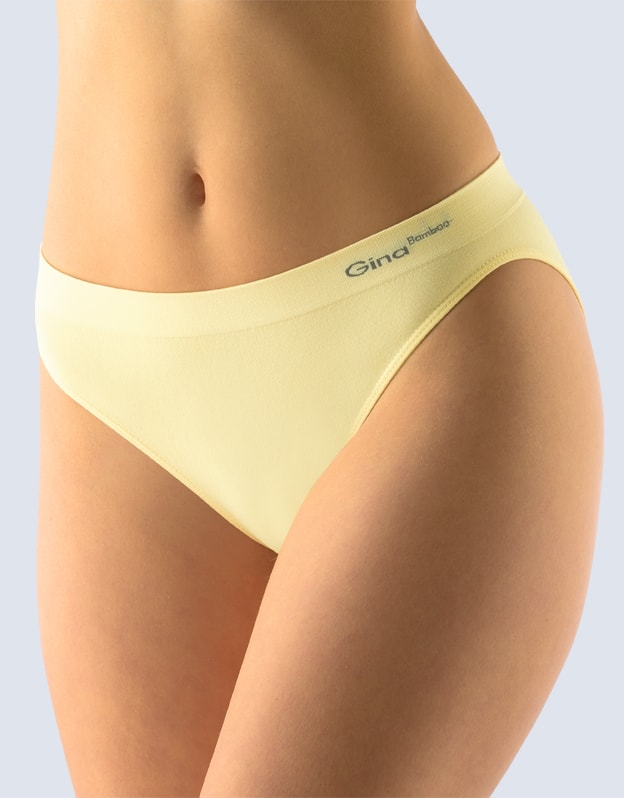 Dámské kalhotky bezešvé GINA Bamboo PureLine 00018P - vanilková